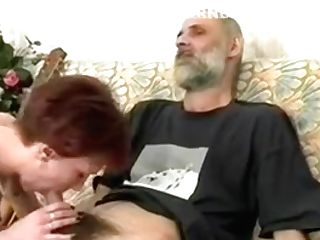 Bitchy Mummy In Pantyhose Juices An Older Mans Penis